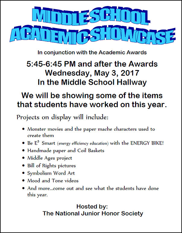Annual Middle School Academic Showcase Is Wednesday Thenbxpress