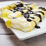 Boston Cream Pie Crepes
