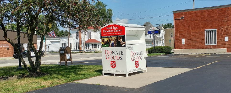 Salvation Army Donation Drop Off Box Moved
