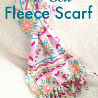 No Sew Fleece Scarf