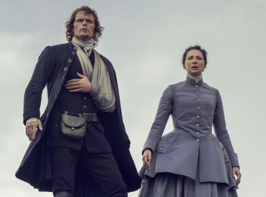 Jamie Fraser (Sam Heughan) and Claire Fraser (Caitriona Balfe) in Outlander 3.08 'First Wife'