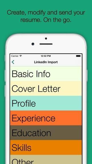 resume builder app ios