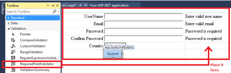 how to create a website in asp net