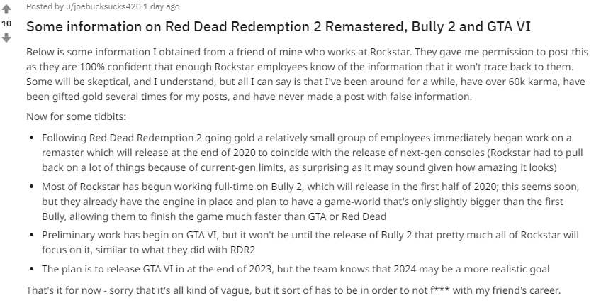 Plano detalhado da próxima geração da Rockstar
