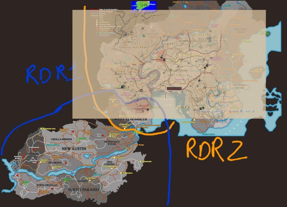 Red Dead Redemption 2 mapa confirmado