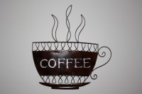 Coffee Cup Metal Wall Art Now with free UK P&P