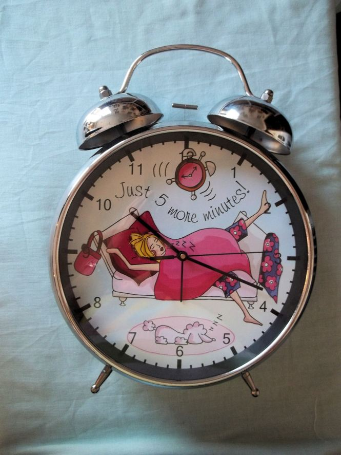 Old Style Bell Alarm Clock Novelty Gift