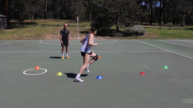 Footwork drill netball coaching