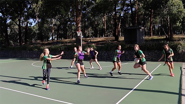 Crosscourt drill transition netball coaching coach