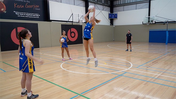 Dan Ryan coaching drill netball five-pass punch