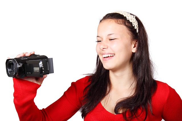 Woman with Camcorder