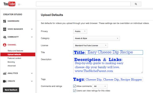 YouTube Description Box
