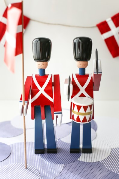A baby shower inspired by the Royal Guards of Copenhagen, Denmark.
