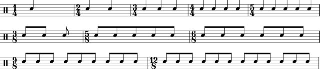 Time Signature Examples