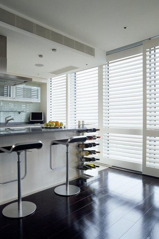 kitchen window shutters white backsplash pictures tnesc london folding wooden