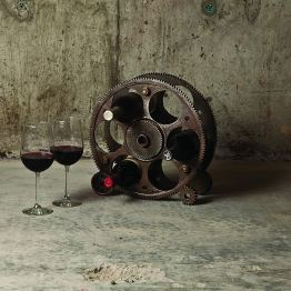 Gears And Wheels Wine Rack by Foster & Rye