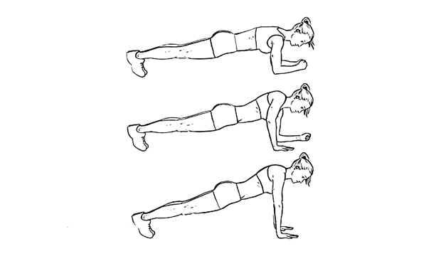 Image result for plank elbow to hand