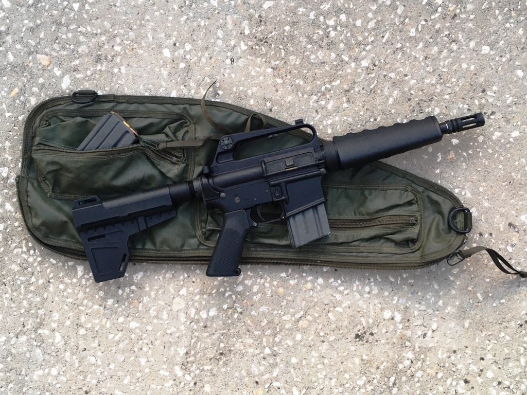 Made for each other, the AR-k fits perfectly in a surplus retro M-60 spare barrel bag!