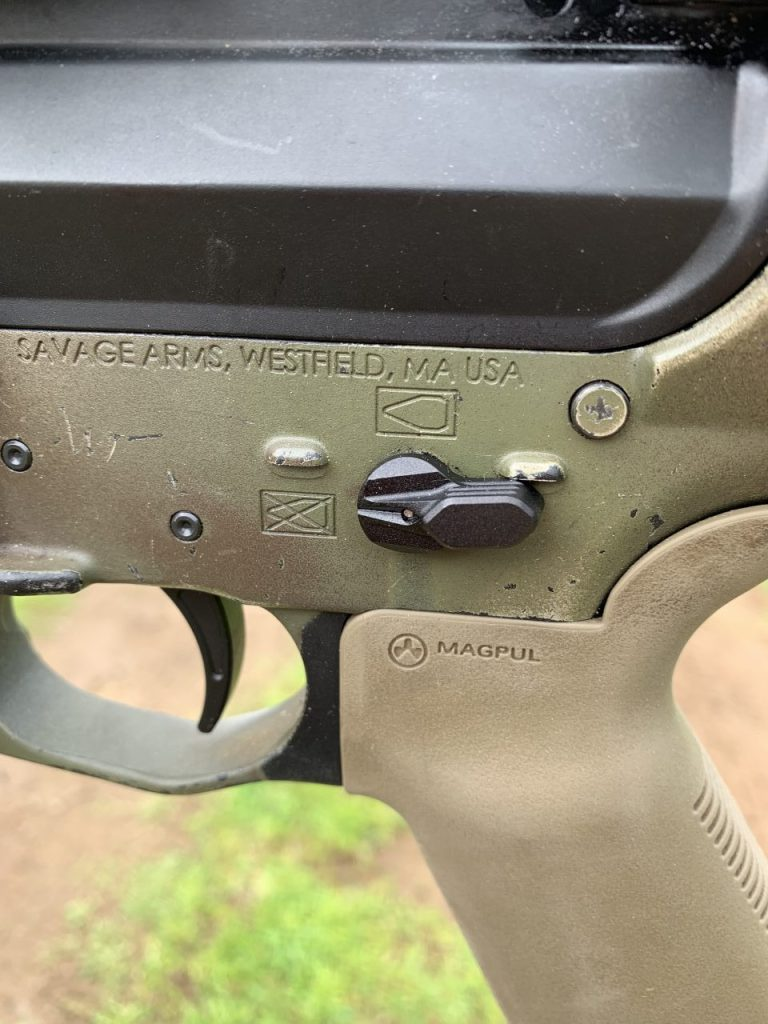 Radian Ambi safety with my magpul MOE+ grip, and my new LaRue MBT trigger!