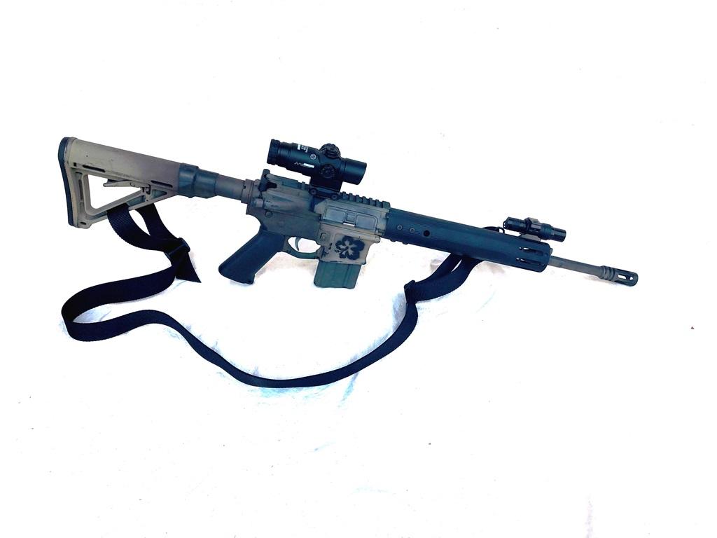 """My duty gun, mid-length gas with a 10"""" EMR V0-E"""