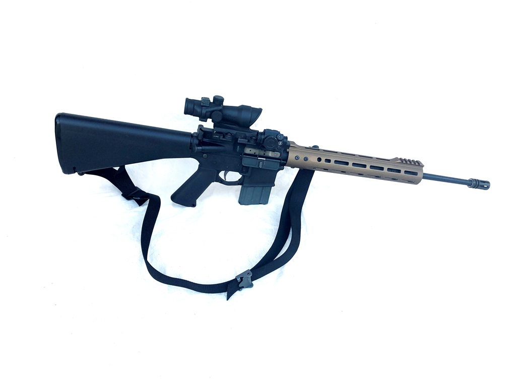 """My precision rifle, mid-length gas with a 12"""" EMR V2"""