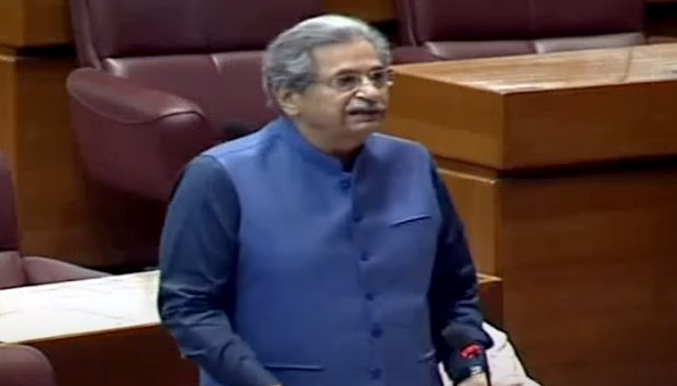 Federal Minister for Education Shafqat Mehmood speaking on the floor of the National Assembly during the budget session in Islamabad, on June 23, 2021. — YouTube