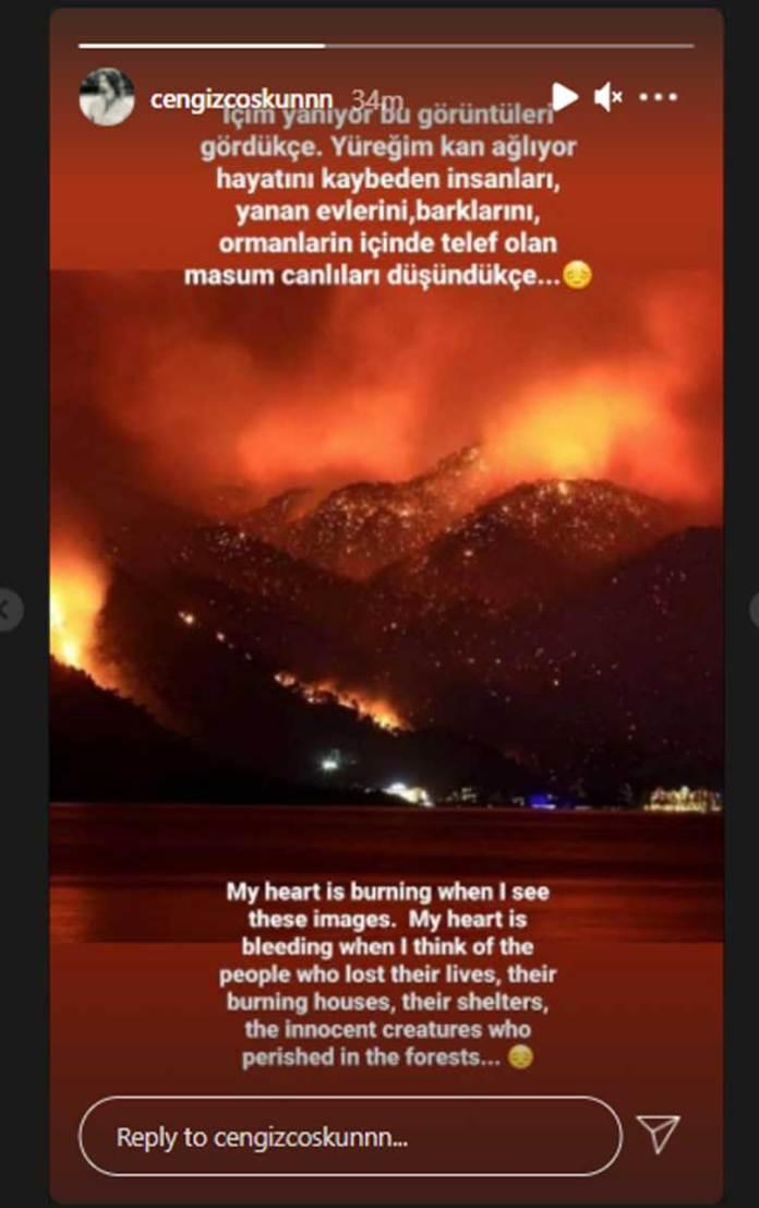 'Ertugrul' star Cengiz Coşkun heartbroken over Turkey wildfires