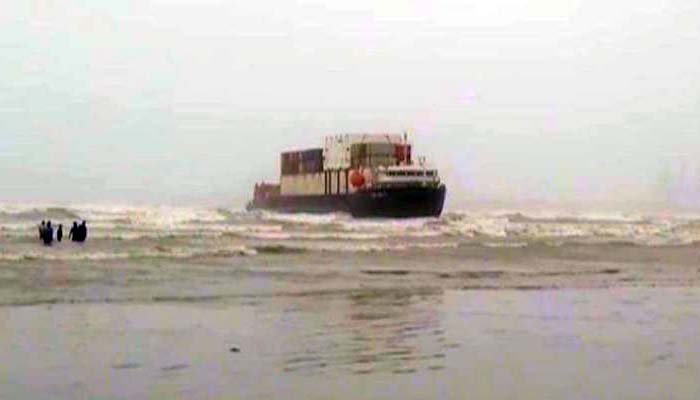 The vessel had become stranded at the Seaview beach on July 21. Photo file