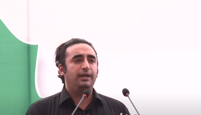 PPP Chairman Bilawal Bhutto-Zardari addressing a a workers convention in Rahim Yar Khan, on September 9, 2021. — YouTube/HumNewsLive
