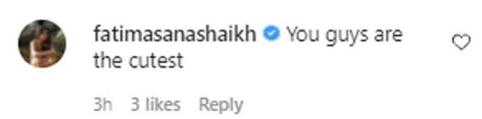 Fatima Sana Shaikh gushes over Aamir Khan's daughter Ira Khan, beau Nupur Shikhare