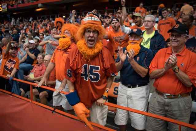 Syracuse fans at homecoming game