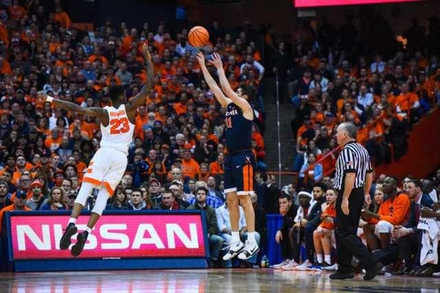 SU men's basketball versus Virginia