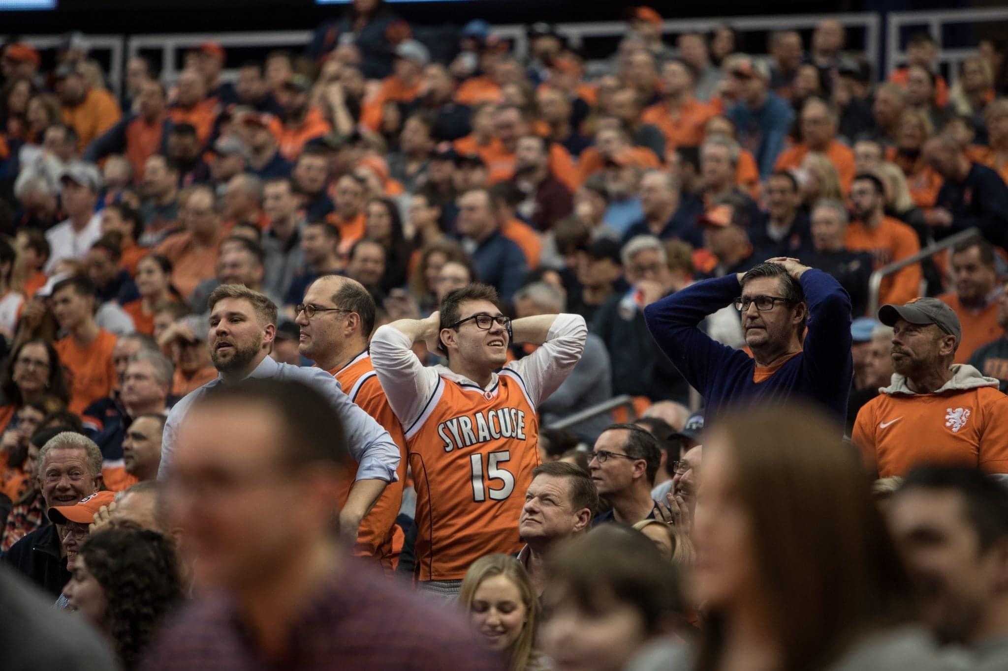 Syracuse men's basketball fans react