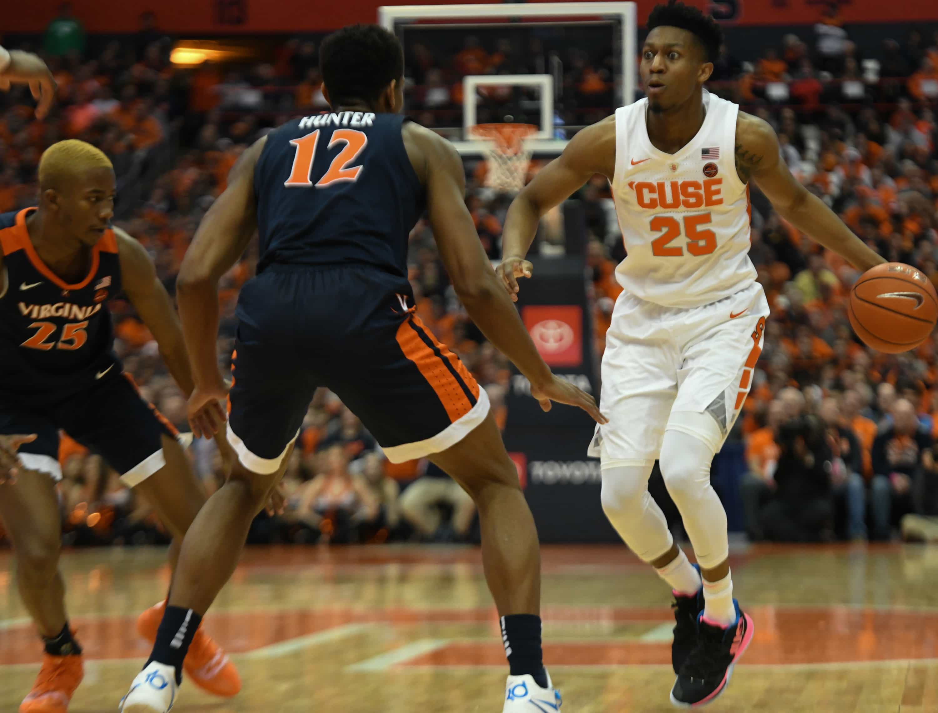 Tyus Battle of Syracuse Men's Basketball vs. Virginia