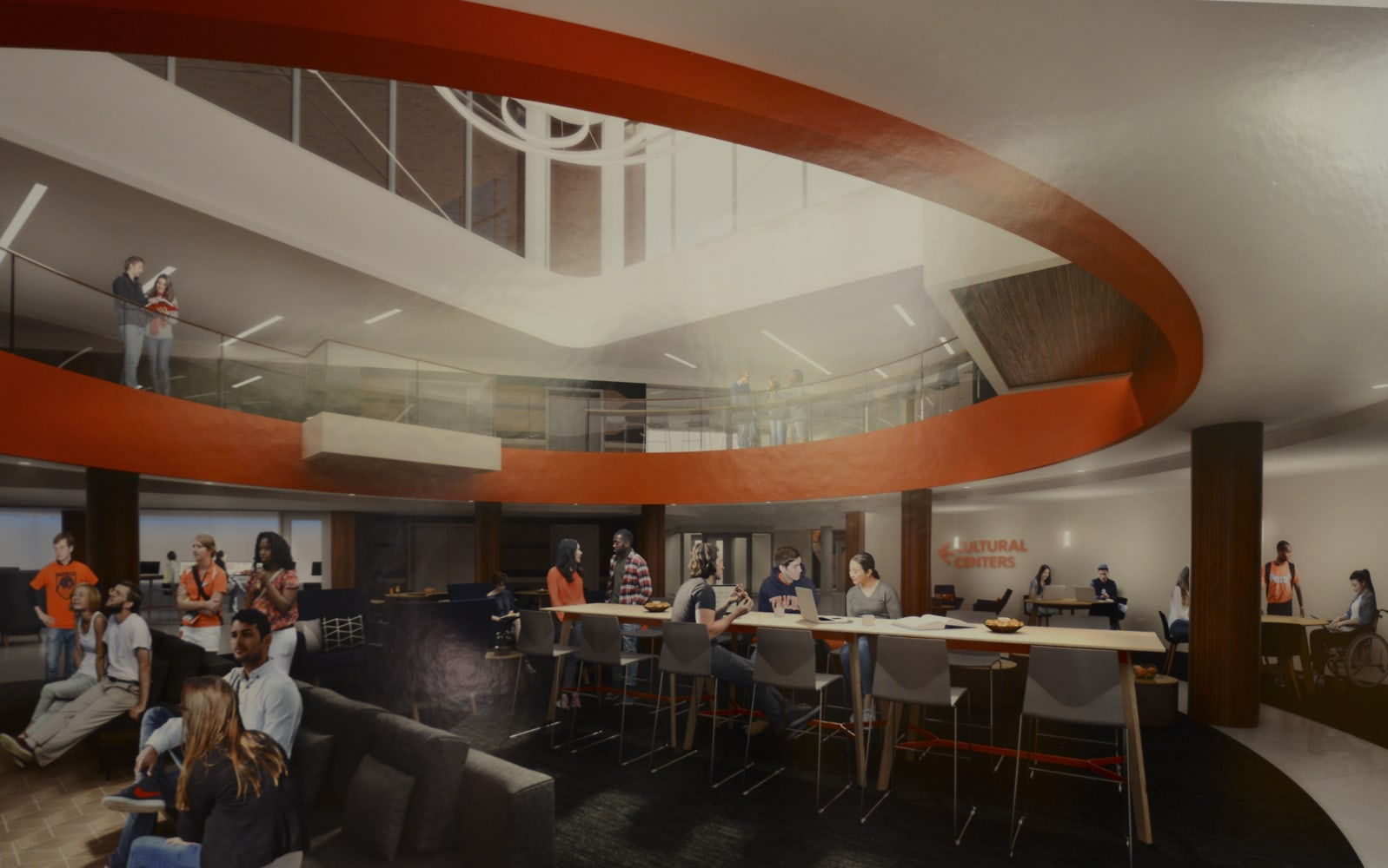 Rendering of the renovations to the Schine Student Center