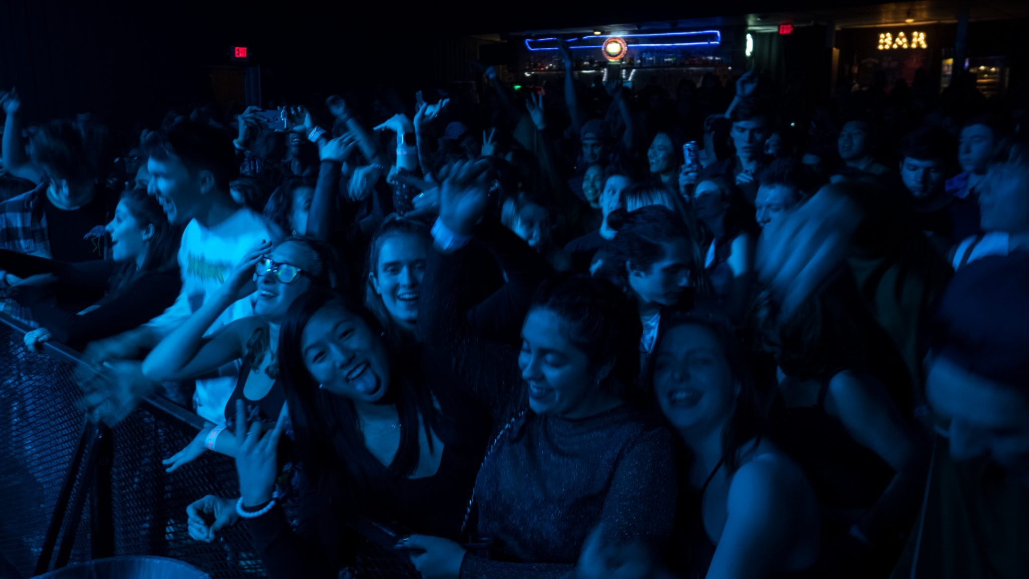 Fans at the Big Wild show at The Westcott Theater