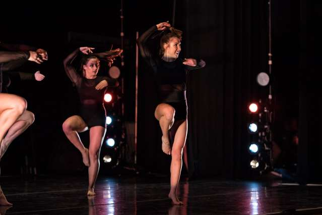 """SU DanceWorks Spring Showcase: Dancers' perform to the song """"Swish Swish"""" by Katy Perry."""