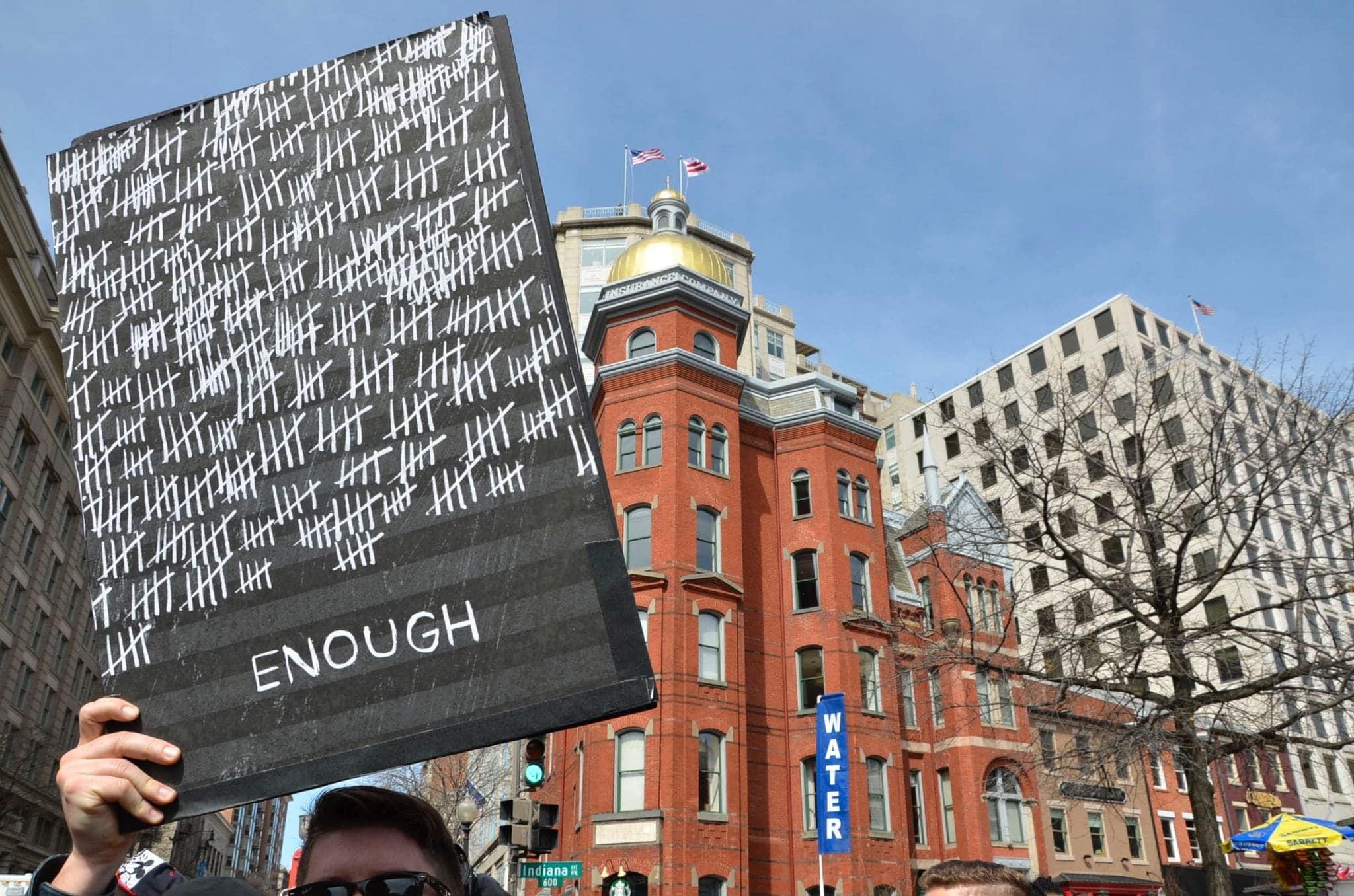 Nate Stevens, marcher from Ann Arbor, Michigan