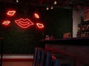 Decor inside XO Taco, a new Mexican restaurant in Syracuse