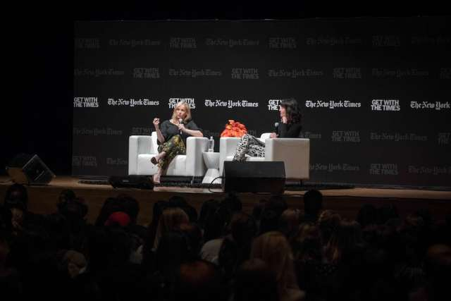 Chelsea Handler and Times reporter Megan Twohey