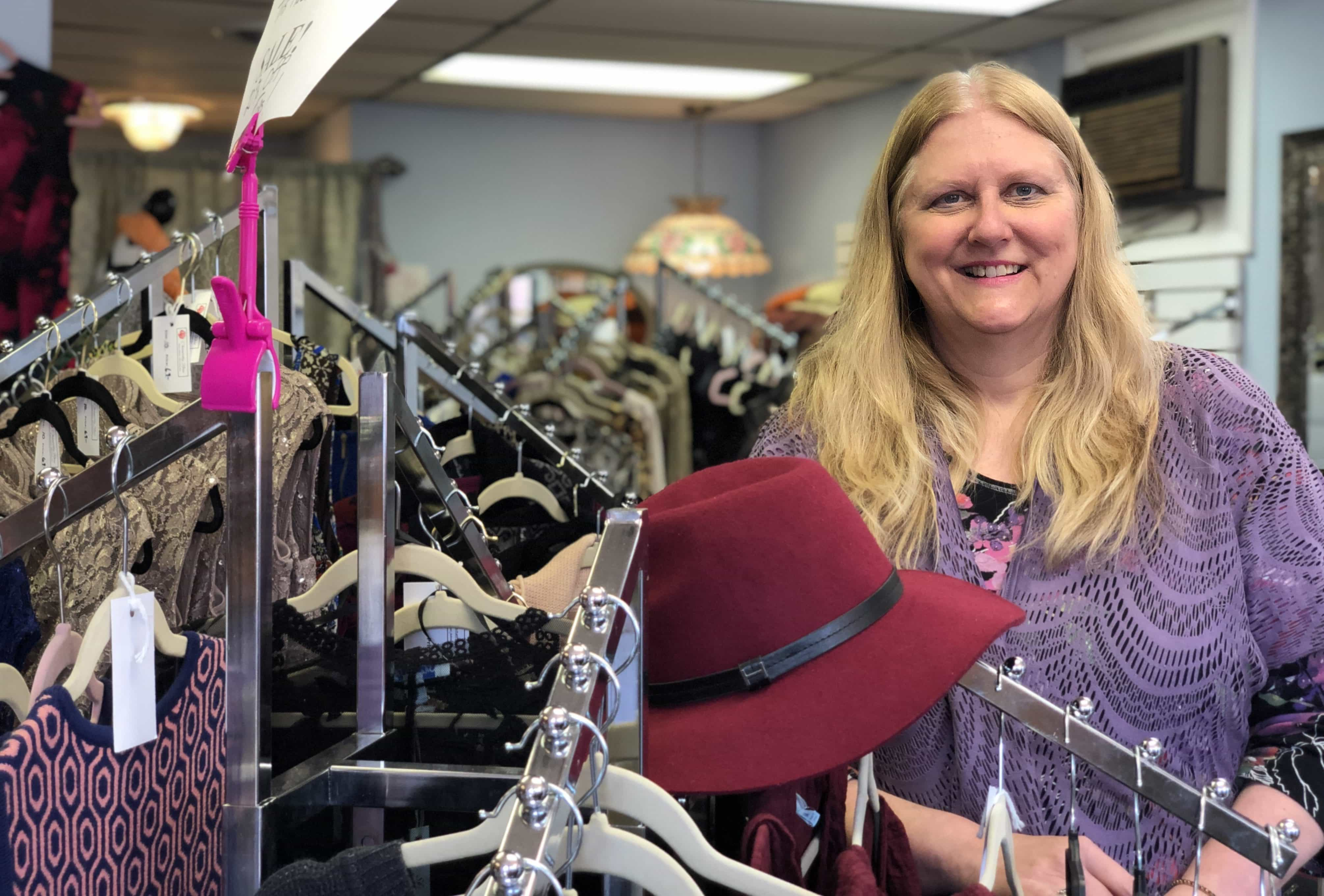Michele McCarthy, owner of Chantilly Rose boutique in Lewiston, New York
