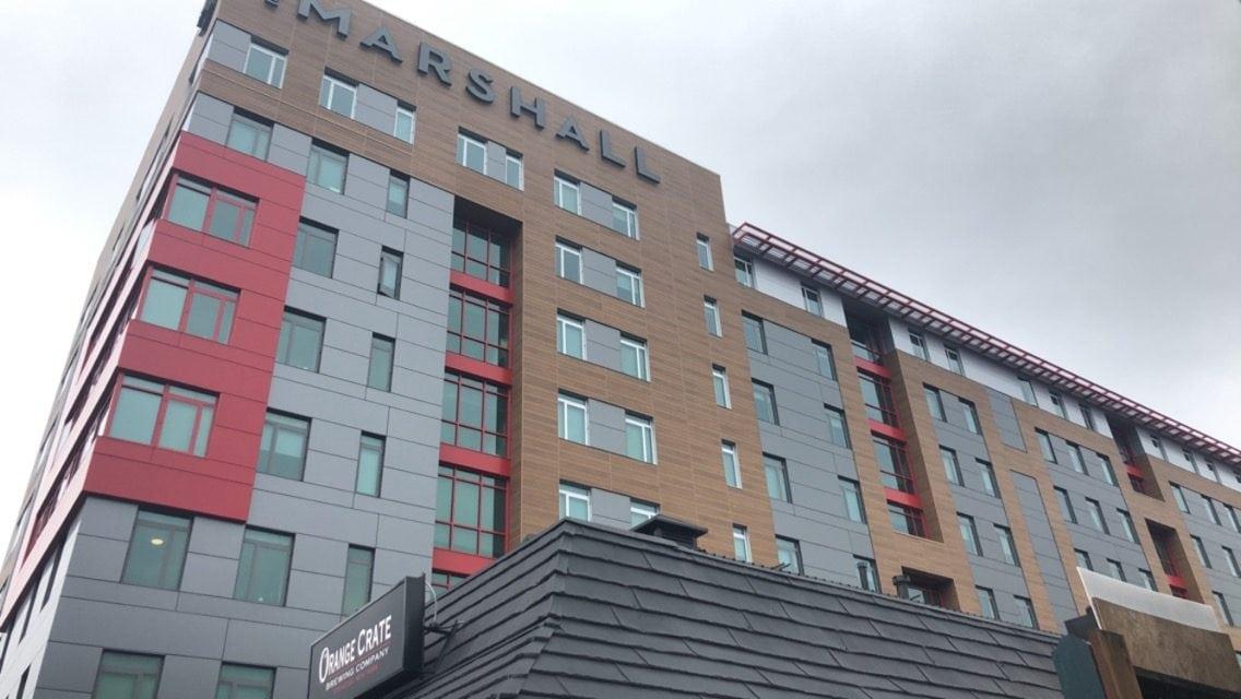 The Marshall apartments.
