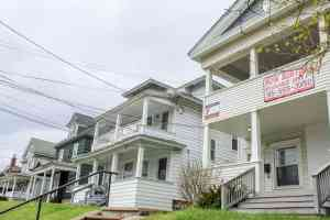 Row of houses for rent