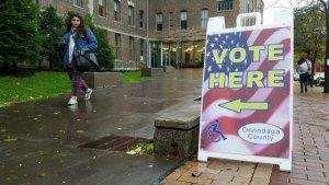 Syracuse University polling place on November 6, 2018.
