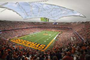 Illustration of interior Carrier Dome Renovations