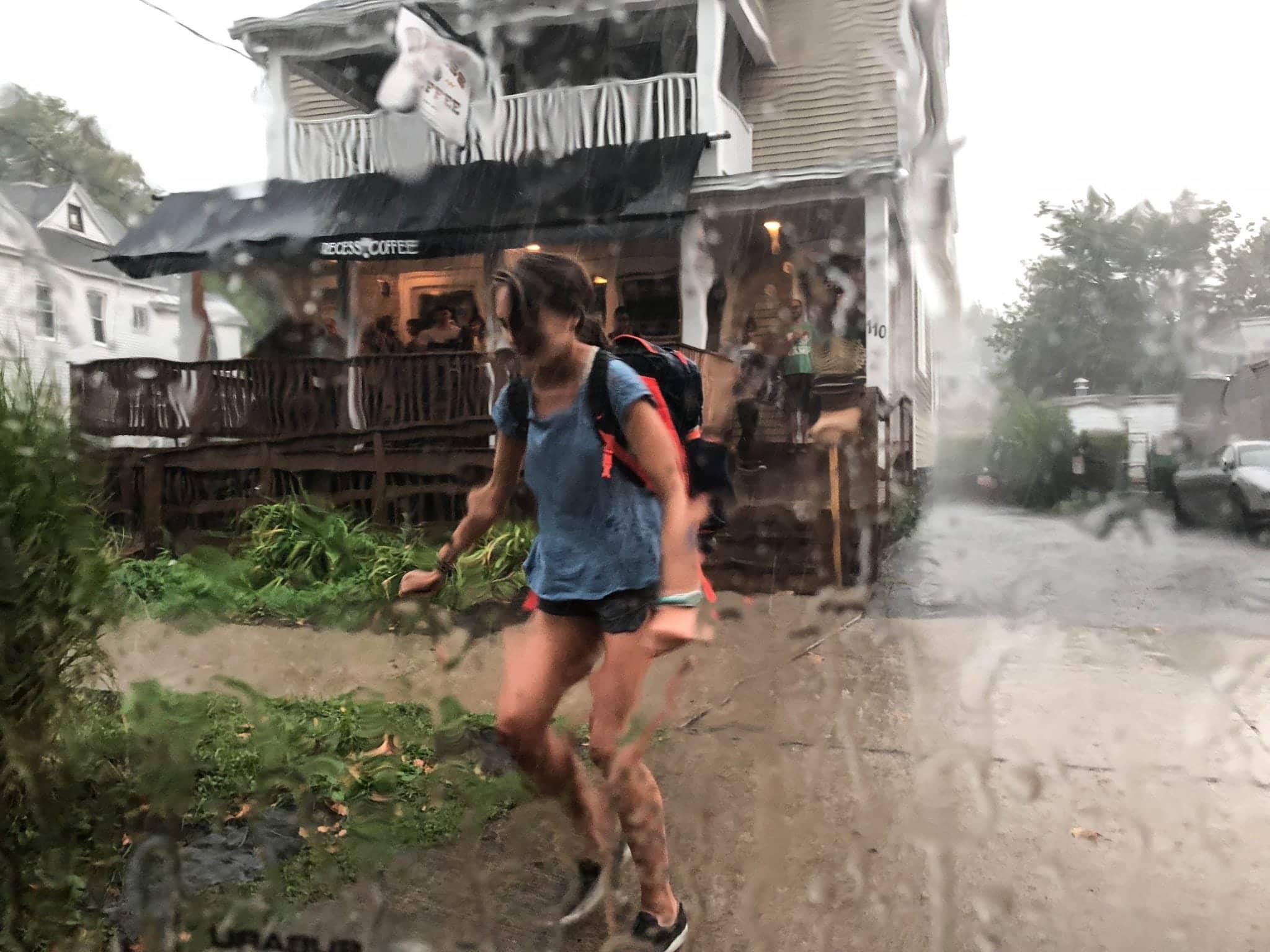 Dashing through the rain