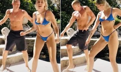 Miley Cyrus dances in a bikini on TiKTok with boyfriend Cody Simpson