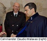 Unione  Terre police commander Claudio Malavasi