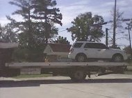 Redflex van being towed