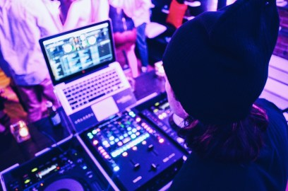 DJ Bobby Downey playing a private function at Converse Boston. Photo: © TNG
